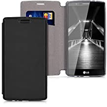 kwmobile Flip Cover for LG G4 with stand - Hinged leatherette cover bag in Flip Case Style in black