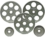 Cheap Ivanko 257.5 lb. E-Z Lift Cast Iron Olympic Plate Package Deal for Olympic Bars