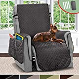 Vailge Large Reversible Recliner Cover, Recliner Slipcover with 2' Strap/Pocket, Chair Cover Width Up to 30', Oversized Recliner Chair Covers for Living Room Dogs Pets Kids(Dark Grey/Grey)