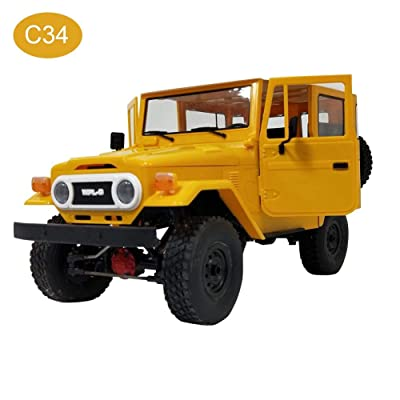 2.4G WPL New RC car C34 Off-Road Remote Control Car Heavy Off-Road Mobile Command Vehicle Military Truck Toy Gift for Kids Over 3 Years Old : Baby