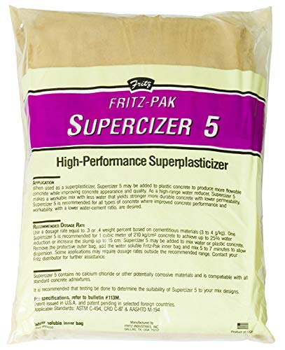 Cheap  Fritz-Pak Concrete Superplasticizer Additive, 1.2lbs. Cement Water Reducer Improves Workability And Strength...