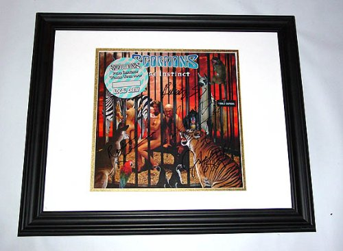 Scorpions Autographed Pure Instinct Signed Album LP un-framed & PROOF PSA/DNA RA (Unframed Vinyl)