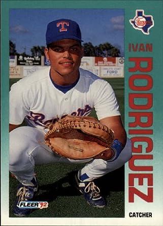 Amazoncom 1992 Fleer Baseball Card 316 Ivan Rodriguez Mint