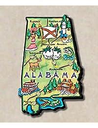 Get Alabama the Heart of Dixie State Artwood Jumbo Fridge Magnet wholesale