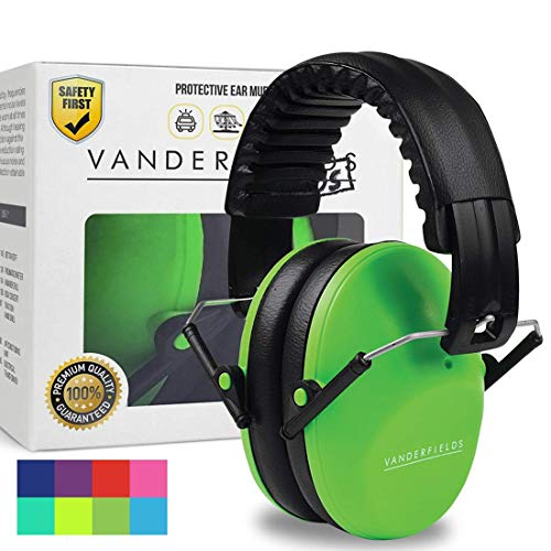 Vanderfields Earmuffs for Kids – Hearing Protection Muffs For Children Small Adults Women – Foldable Design Ear Defenders Protector with Adjustable Padded Headband for Optimal Noise Reduction - Gr
