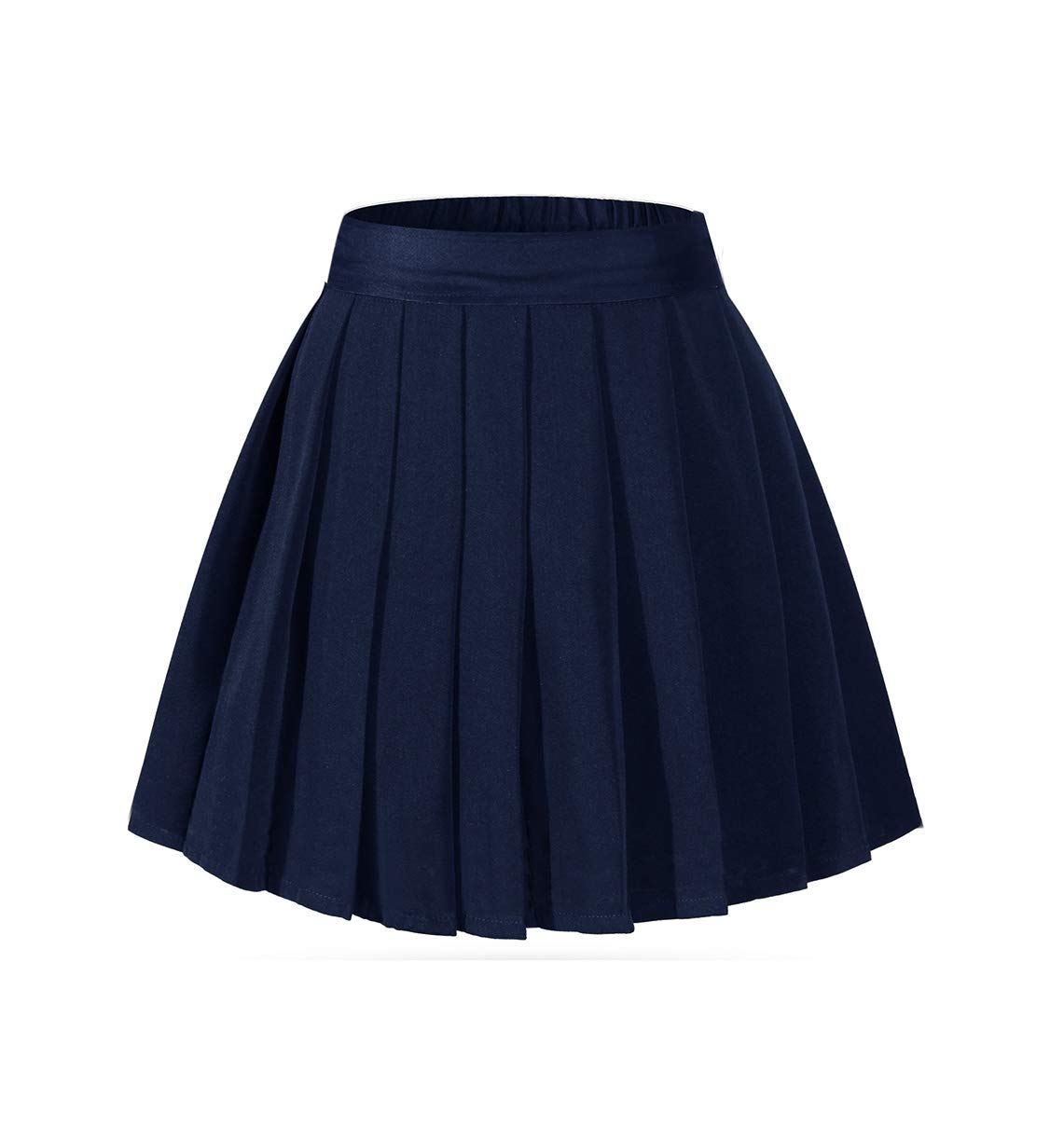 Beautifulfashionlife Girl's Navy Uniform Skirt Mini Tennis A-line Skirt with Shorts Blue,M by Beautifulfashionlife