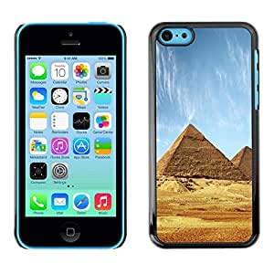 LECELL -- Funda protectora / Cubierta / Piel For Apple iPhone 5C -- Architecture Ancient Pyramids Giza --