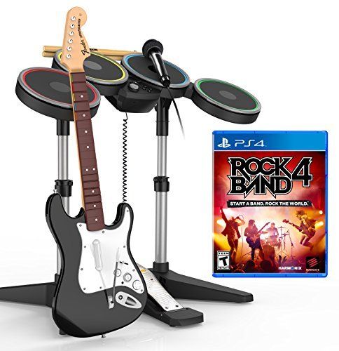 Rock Band 4 Band-In-A-Box Ps4 Software Bundle by Mad Catz