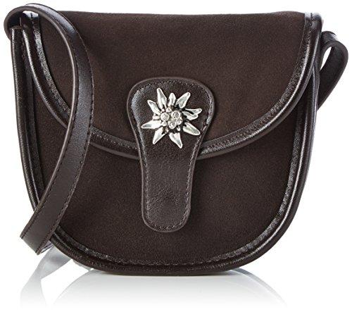 Lady Edelweiss Trachtentasche - Bolso de hombro de piel sintética mujer marrón - marrón (marrón)