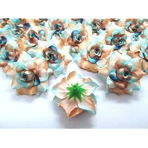 "(100) Silk Sea Beach Roses Flower Head - 1.75"" - Artificial Flowers Heads Fabric Floral Supplies Wholesale Lot for Wedding Flowers Accessories Make Bridal Hair Clips Headbands Dress 2"