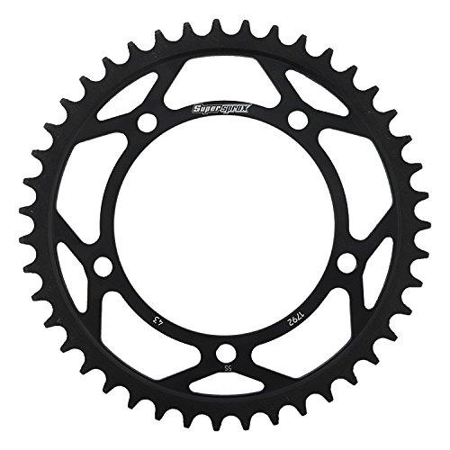 Supersprox RFE-1792-43-BLK Rear Steel Sprocket Black For Triumph Bonneville 100T 02 03 04 05 06 07 08 09 10 11 12 13 14 15 16, 600Daytona 04, 650Daytona 05, Daytona 595T 97 98 03 04, Scrambler 06 07