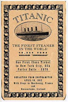 Swarovski Crystal Titanic Necklace With Replica Of 1st