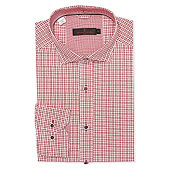 Pierre Cardin Red & White Shirt Neck Shirts For Men