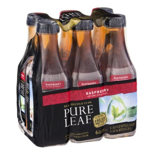Pure Leaf Iced Tea, Raspberry, 6 Count (Pack of 2) -