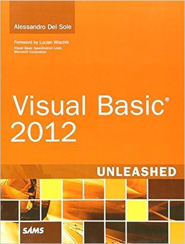 Visual Basic 2012 Unleashed (2nd Edition) Pdf