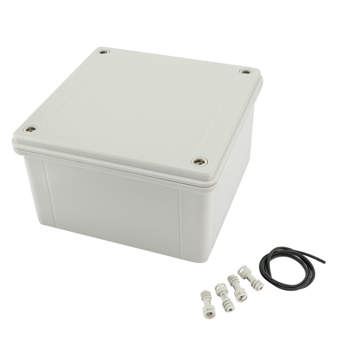 uxcell 6.3x6.3x3.54(160mmx160mmx90mm) ABS Dustproof IP65 Junction Box Universal Project Enclosure a17031600ux1019