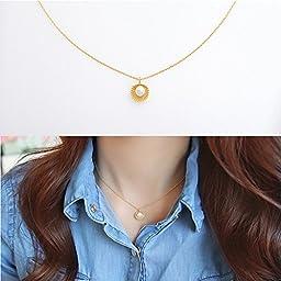 Sea Shell Locket, Mermaid Valentine Necklace, Beach Locket, Gold Tone Brass