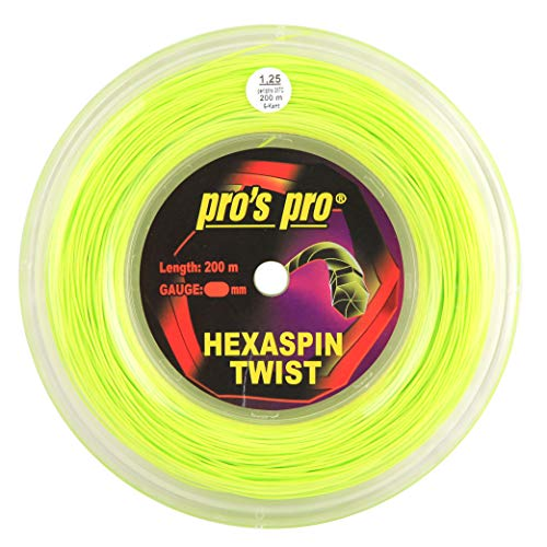 Pro's Pro Hexaspin Twist Lime 1.25mm – Tennis String Reel 200m