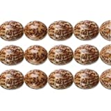 Betel Nut Oval Beads Natural 15x10mm 16 Inch Strand