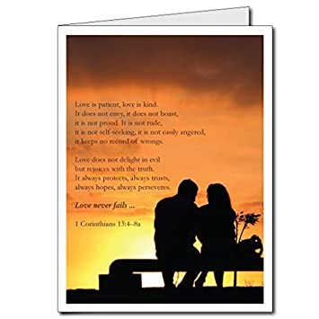 Amazon Com 2 X3 Giant Valentine S Day Card Bible Verse Love Is