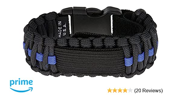 b1cd1ec38ac Amazon.com  Survco Tactical para Cord Watch Band Blue Line  SURVCO  Sports    Outdoors