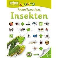 memo Activity. StickerRätselSpaß Insekten