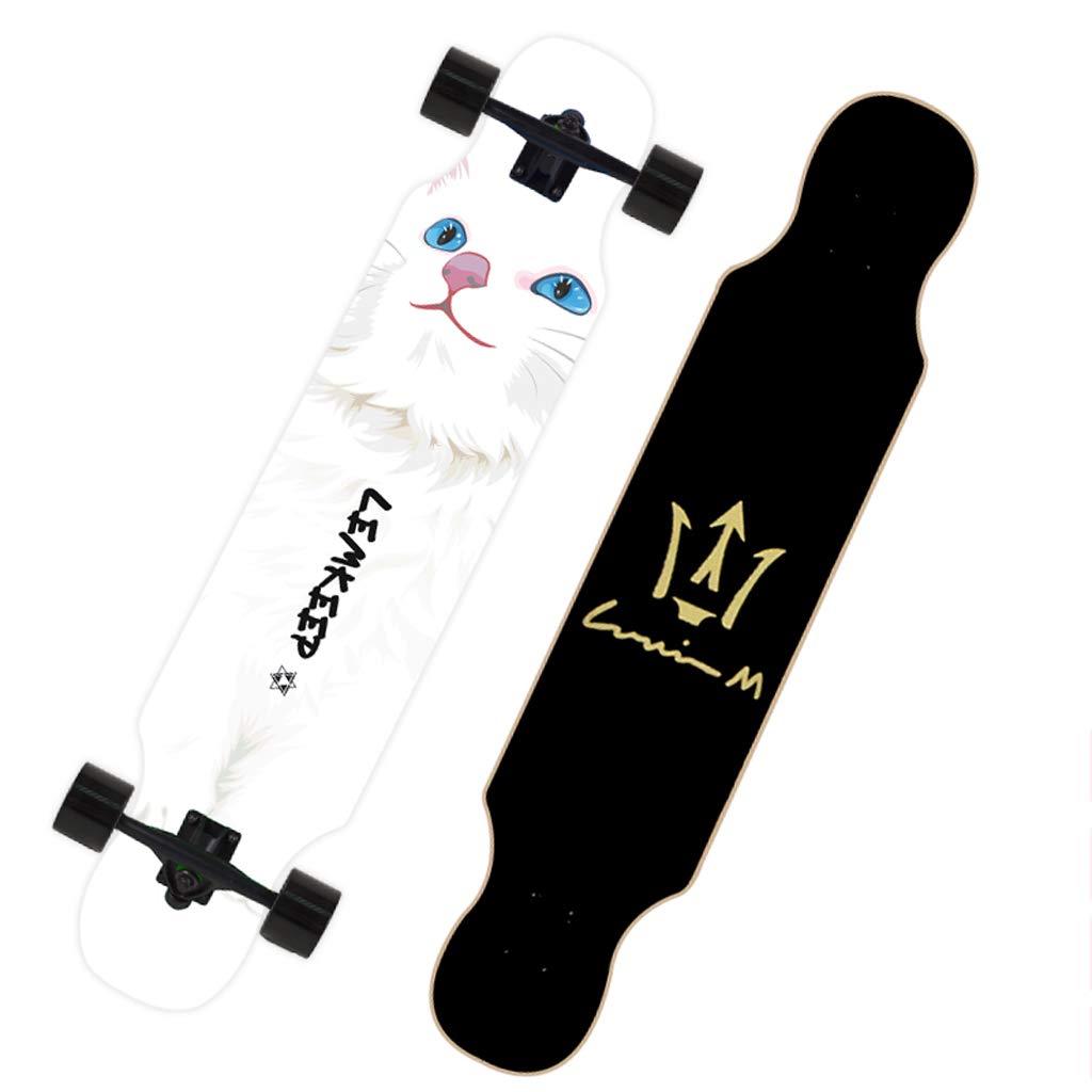 輝く高品質な DUWEN スケートボード初心者スケートボードロングボード大人のダンスボード男の子と女の子のブラシストリートティーンプロの旅行四輪スクーター D (色 : (色 B) B07NRK1LDN D D D, まんてんショップ:b967b8d7 --- a0267596.xsph.ru