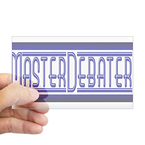 CafePress - Master Debater - Rectangle Sticker - Rectangle Bumper Sticker Car Decal