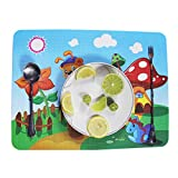 Silicone Children's Placemat, Portable Waterproof Non Slip Table Mat for Kids, Roll Up Reusable Travel Placemats for Dining Table, Safety Food Meal Mats (Style C)