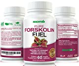 Best Appetite Suppressant - Pure Forskolin Fuel for Weight Loss - 100% Pure Maximum Strength Fat Burner (60 Capsules) Research Verified Coleus Forskohlii Extract Supplement Standardized 20%