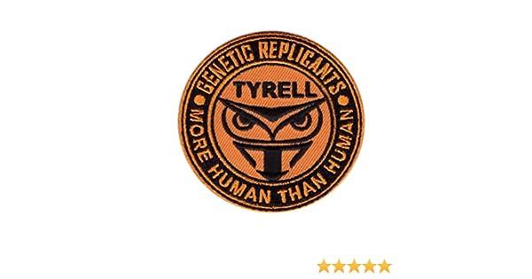 Hook Patch Blade Runner Owl Tyrell Genetic Replicant More Than Human Patch Blade Runner B/úho Parche Bordado Fijaci/ón Gancho Por Titan One Europe