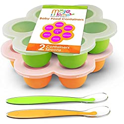 Reusable Food Container Silicon Tray With Clip On Lid, Pack of 2