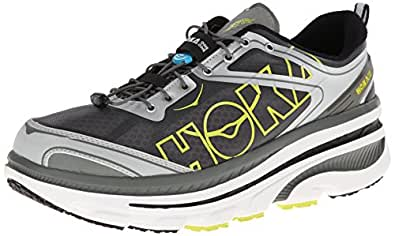Hoka One One Men's Bondi 3 White/Silver/Citrus Ankle-High Synthetic Running Shoe - 13M