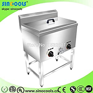 Hot sale Food frying machine cheaper kfc gas fryer for chicken with 1 tank two baskets