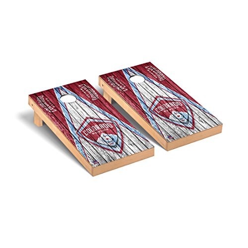Colorado Rapids MLS Soccer Regulation Cornhole Game Set Triangle Weathered Version by Victory Tailgate