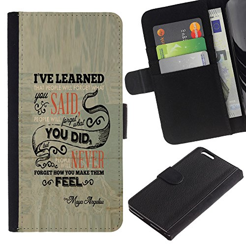 OMEGA Case / Apple Iphone 6 PLUS 5.5 / LOVE GOD AND LOVE PEOPLE / Cuir PU Portefeuille Coverture Shell Armure Coque Coq Cas Etui Housse Case Cover Wallet Credit Card
