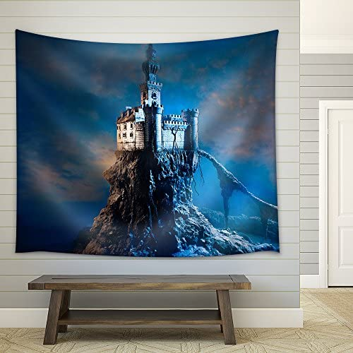 Old Castle on The Hill Fabric Wall