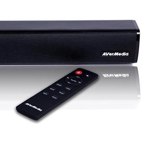 Avermedia GS315 Ballista Trinity Gaming PC Speakers, 2.1 Sound System Speakers, 77 Watts, 3-Way Satellite Speakers