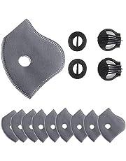 Elite Fitness Filtros de Repuesto de mascaras, filtros de carbón Activado, Piezas de Repuesto para Las máscaras Deportivas de Ciclismo Grupo Kazan