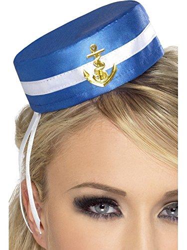 Smiffys Déguisement Femme, Chapeau de marin Fever, Couleur: Bleu, 28885