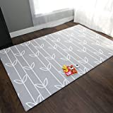 Baby Care Soft Playmat/Kids Play Mat Sea Petals Grey - Medium