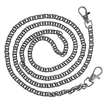Prettyia Chain Strap For Satchel Bags Shoulder Crossbody Bag Chain Replacement - Black, as described