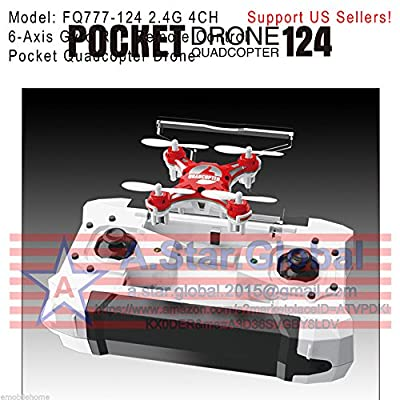 FQ777-124 2.4G 4CH 6-Axis Gyro RTF Remote Control Pocket Quadcopter Drone
