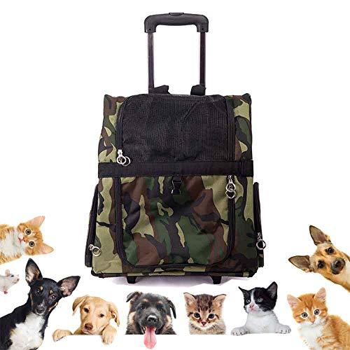 Estuche para Mascotas, Camuflaje, Bolsa de Viaje Transpirable, Perro de Uso, Gato, Animal pequeño,36 * 43 * 23