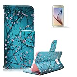 Sony Xperia Z3 Compact/Mini Case [with Free Screen Protector], Funyye Elegant Premium Folio PU Leather Wallet Magnetic Closure with Stand Function Book Style Built-in Magnet Flip Credit Card Holder Slots Ultra Slim Thin Stylish Colored Drawing Patterns Case Cover for Sony Xperia Z3 Compact/Mini - Little Flowers