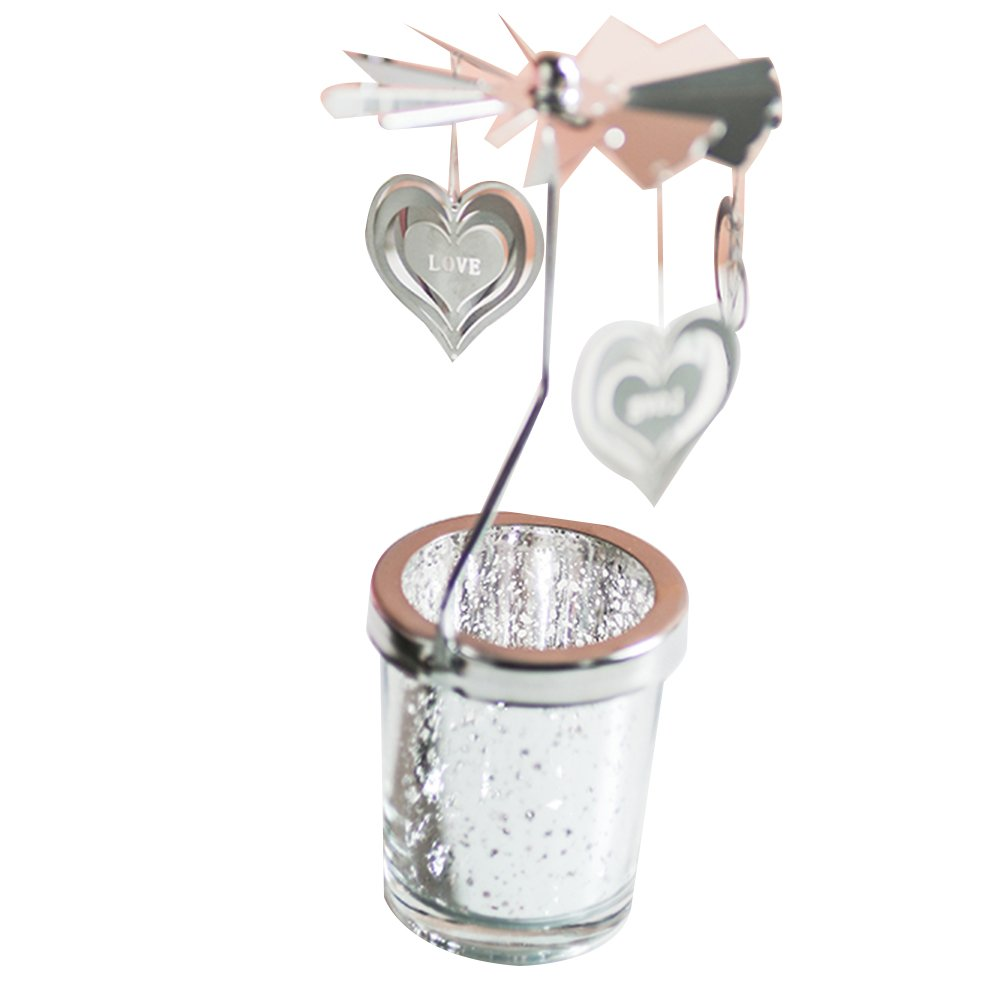 NaiseCore Portacandele per aromaterapia Portacandele Love Heart Lantern Candlestick Dinner Dinner Cup