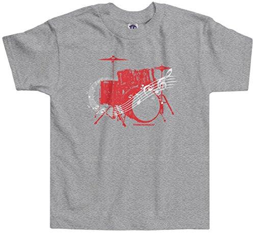 Threadrock Little Boys' Drum Kit Toddler T-Shirt 4T Sport Gray