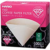 Filtro De Papel Natural Para Coador De Café V60, Tamanho 02, Caixa Com 100 Hario 0 Marrom
