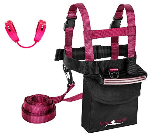 (Lucky Bums Ski Trainer Kit, Pink, One Size)