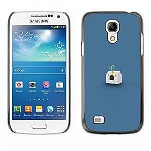 Caucho caso de Shell duro de la cubierta de accesorios de protección BY RAYDREAMMM - Samsung Galaxy S4 Mini i9190 - Headshot Leche